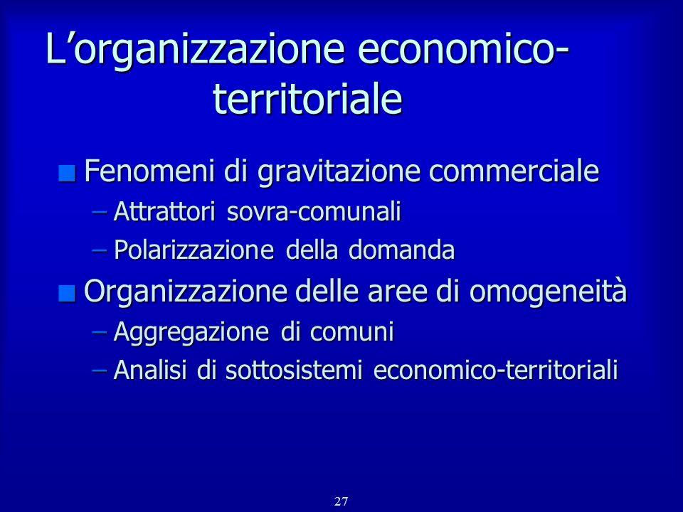 L'organizzazione economico-territoriale
