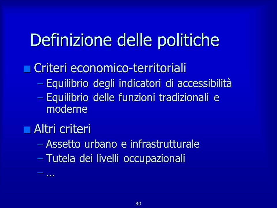 Definizione delle politiche