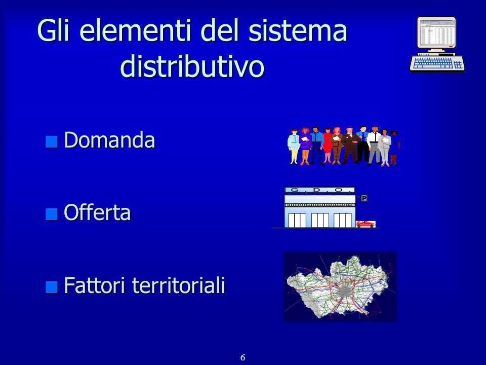 Gli elementi del sistema distributivo