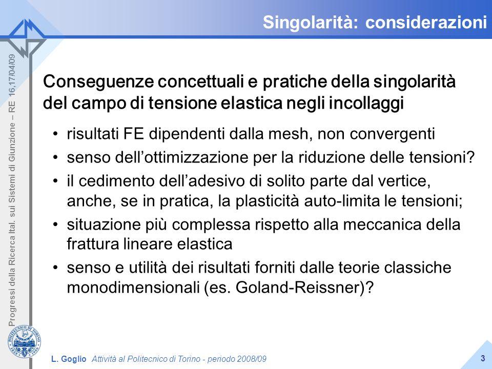Singolarità: considerazioni