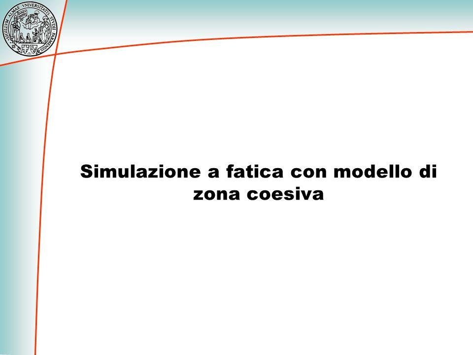 Simulazione a fatica con modello di zona coesiva
