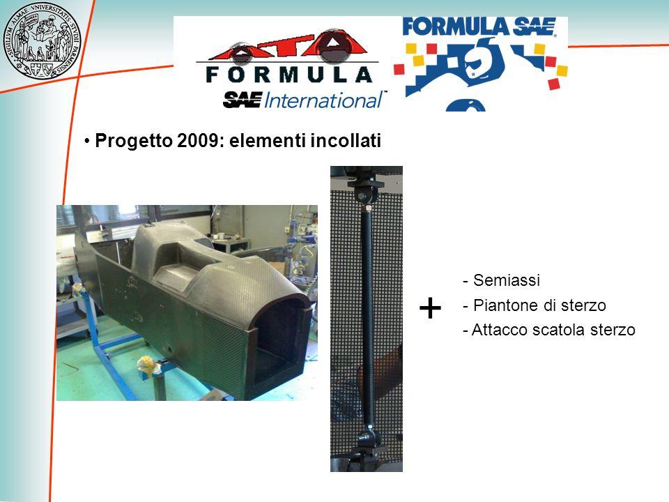 + Progetto 2009: elementi incollati Semiassi Piantone di sterzo