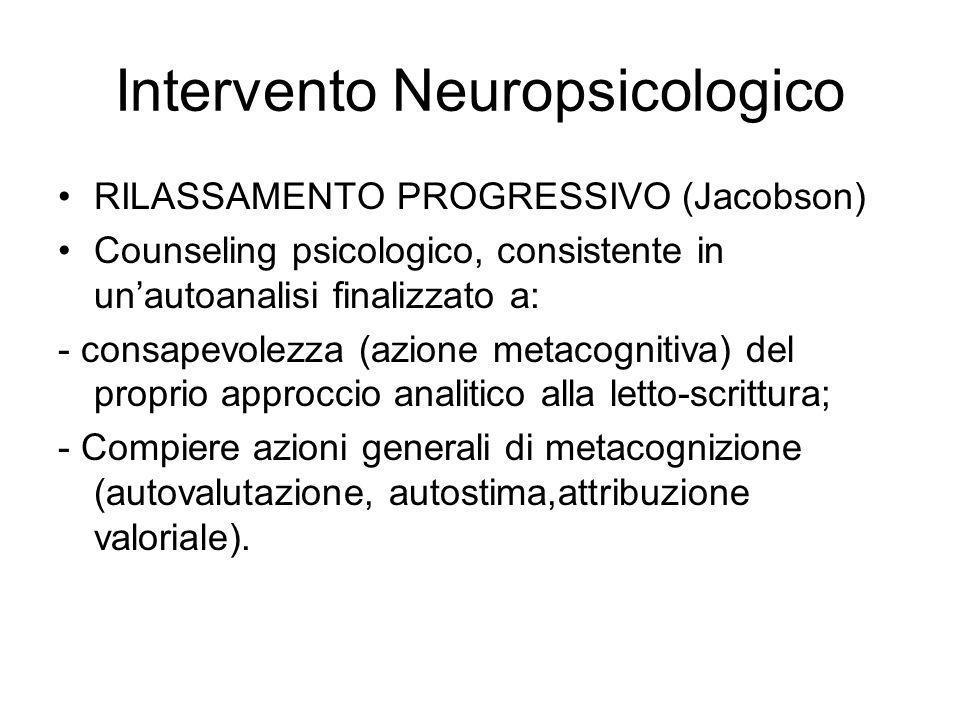 Intervento Neuropsicologico