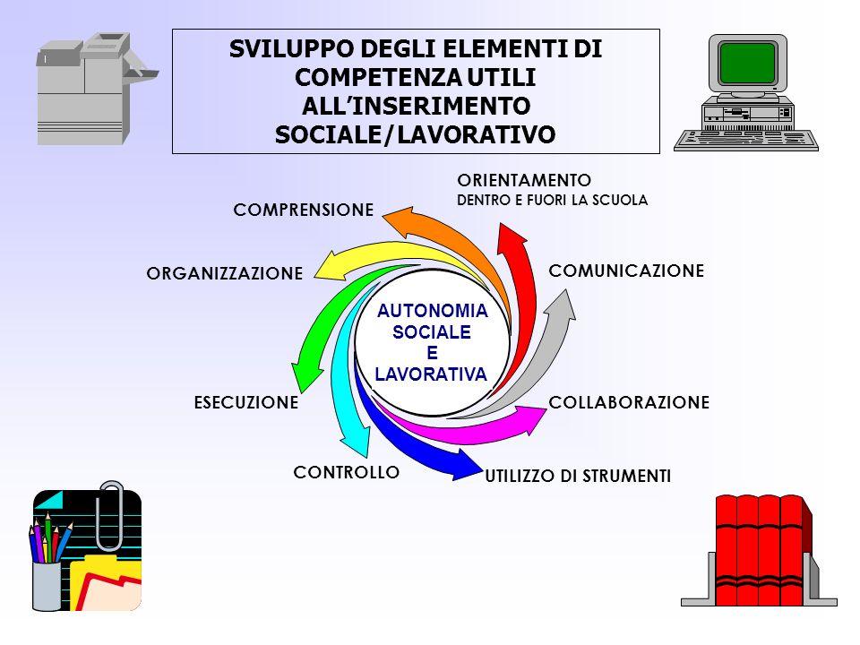 SVILUPPO DEGLI ELEMENTI DI COMPETENZA UTILI ALL'INSERIMENTO SOCIALE/LAVORATIVO