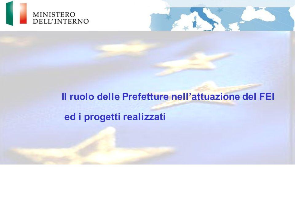 Il ruolo delle Prefetture nell'attuazione del FEI ed i progetti realizzati