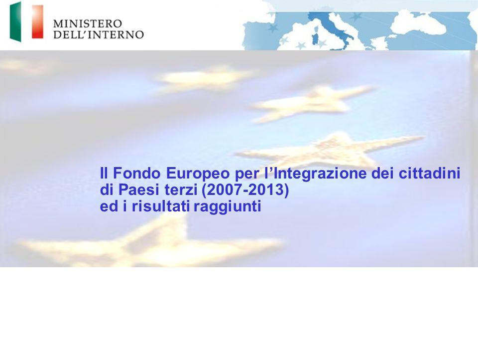 Il Fondo Europeo per l'Integrazione dei cittadini di Paesi terzi (2007-2013) ed i risultati raggiunti