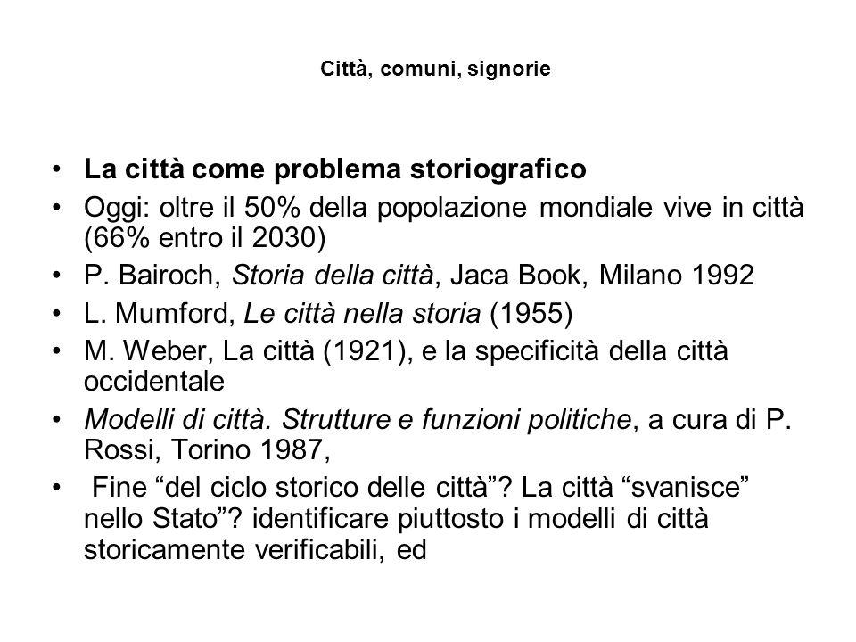 La città come problema storiografico