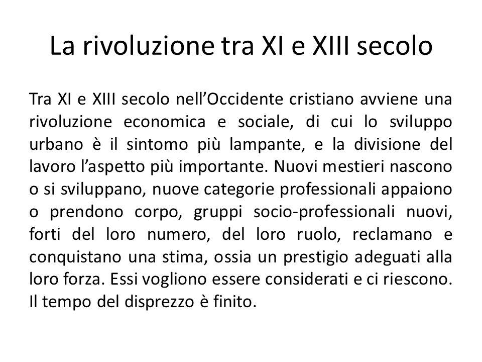 La rivoluzione tra XI e XIII secolo