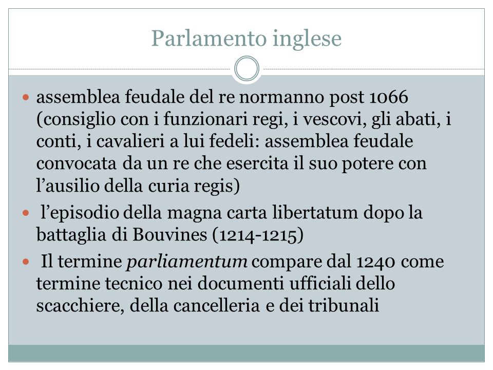 Parlamento inglese