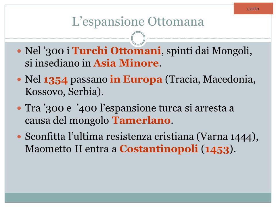L'espansione Ottomana