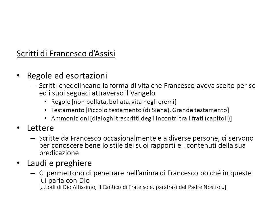 Scritti di Francesco d'Assisi Regole ed esortazioni