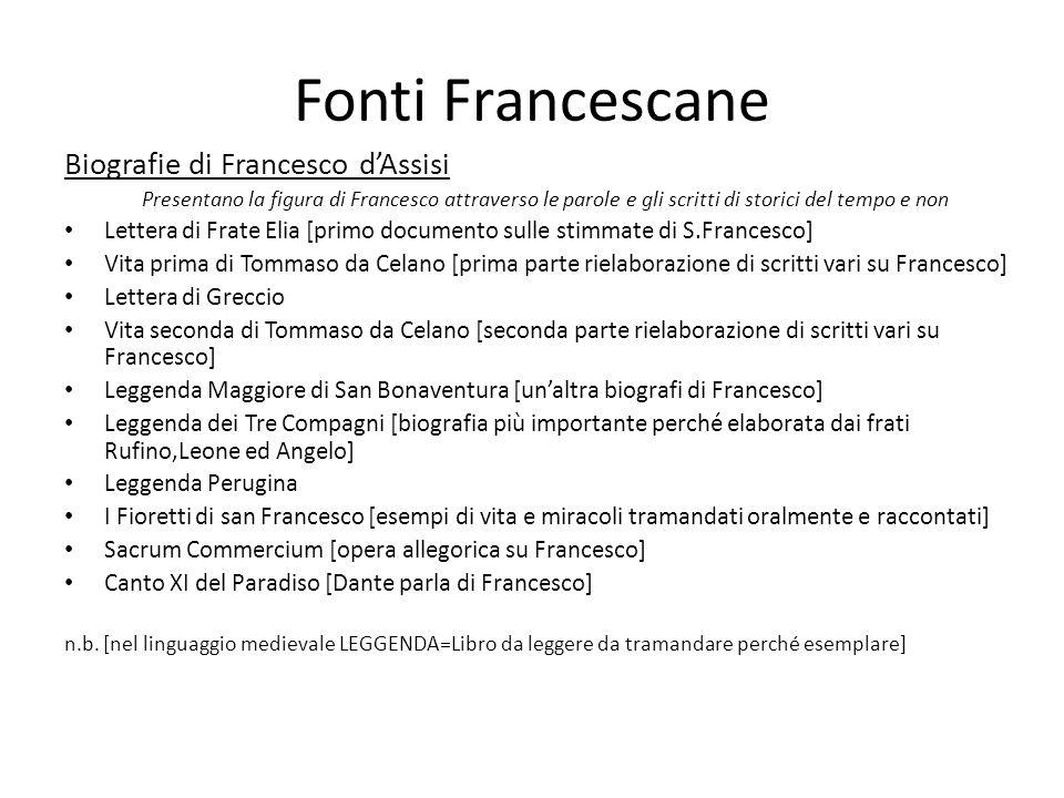 Fonti Francescane Biografie di Francesco d'Assisi