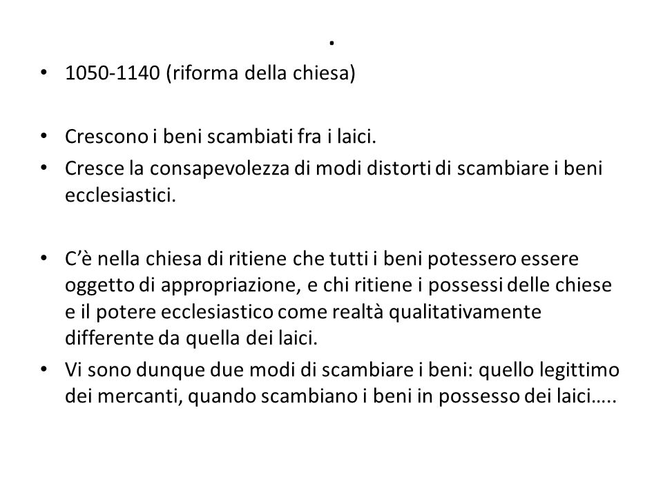 . 1050-1140 (riforma della chiesa)