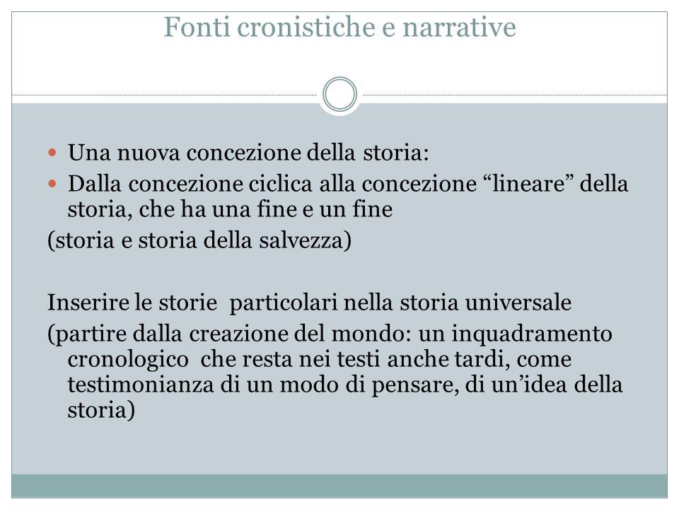 Fonti cronistiche e narrative