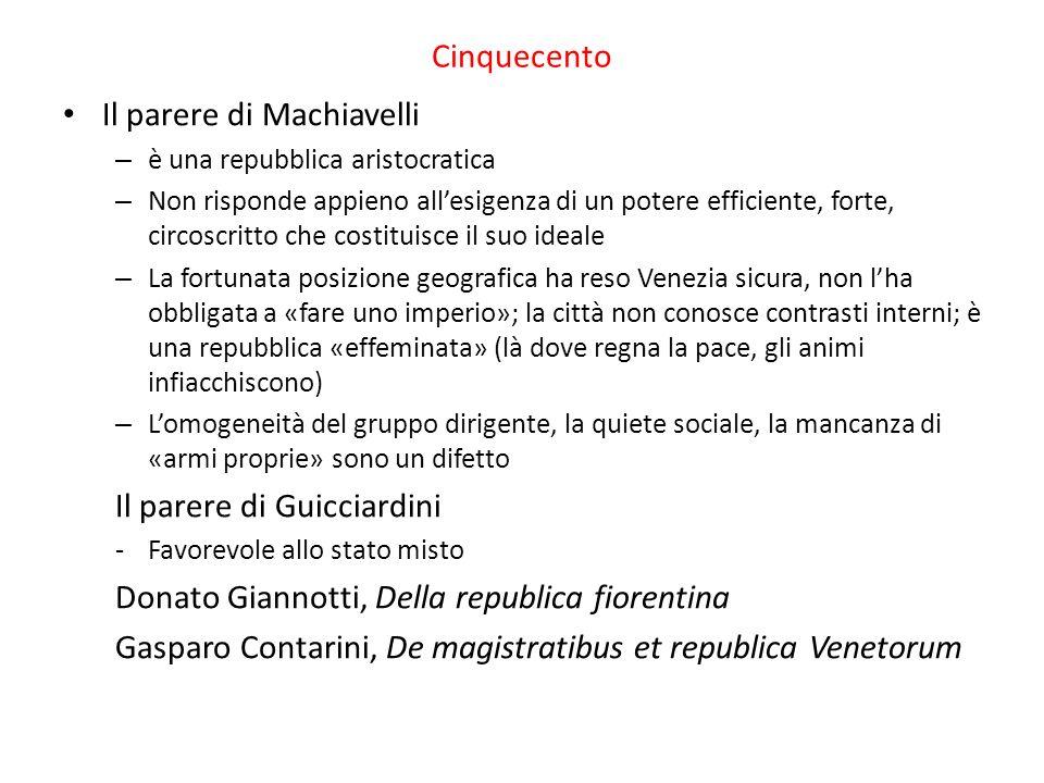 Il parere di Machiavelli