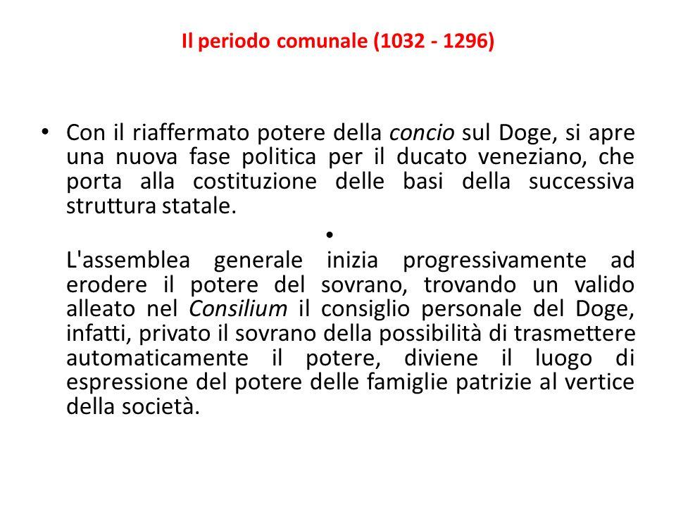 Il periodo comunale (1032 - 1296)
