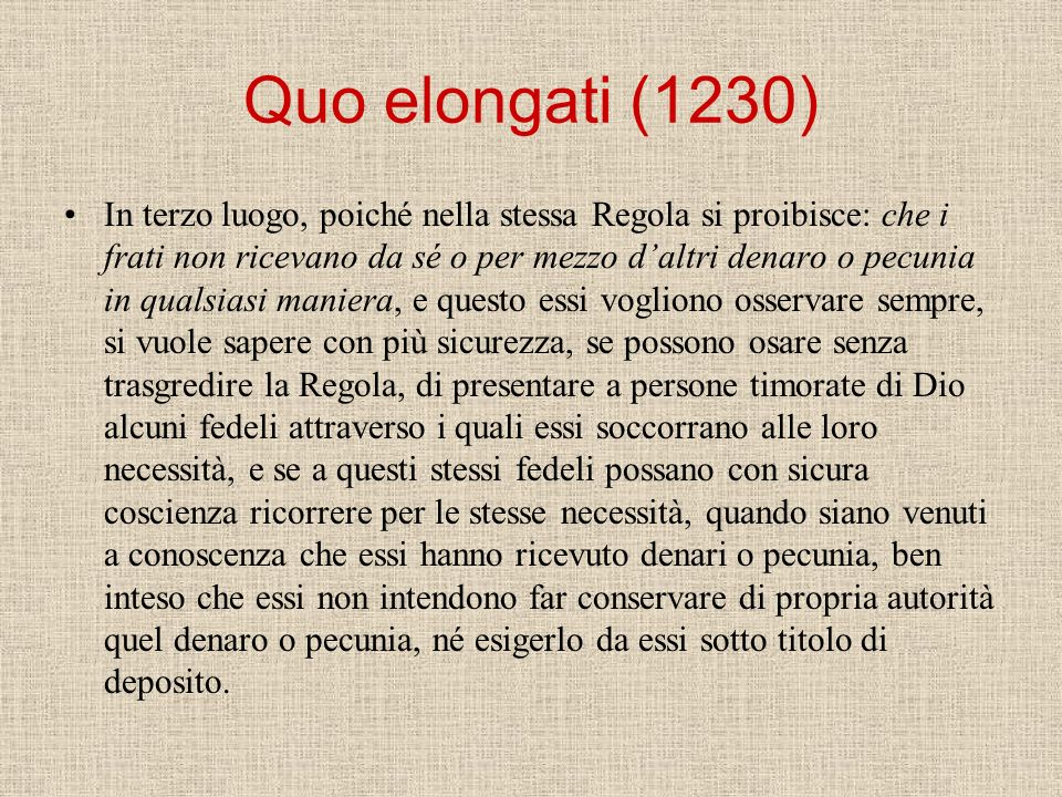 Quo elongati (1230)