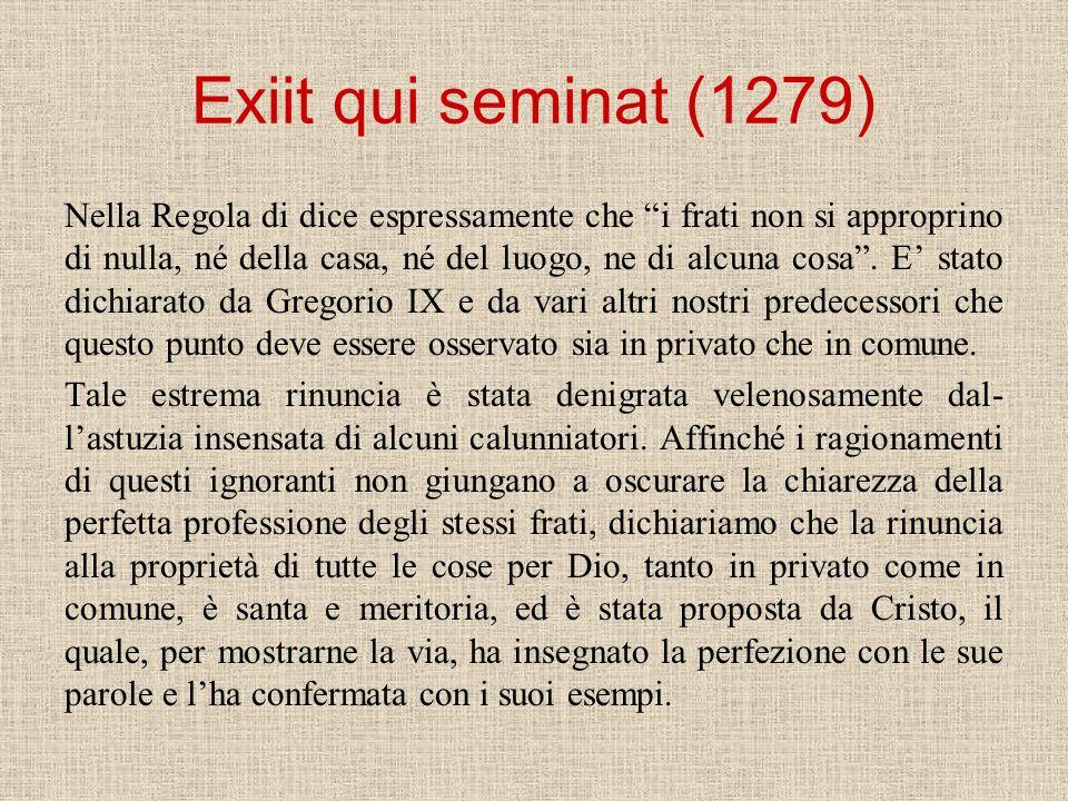 Exiit qui seminat (1279)