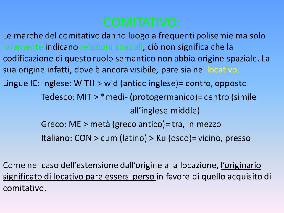 COMITATIVO: