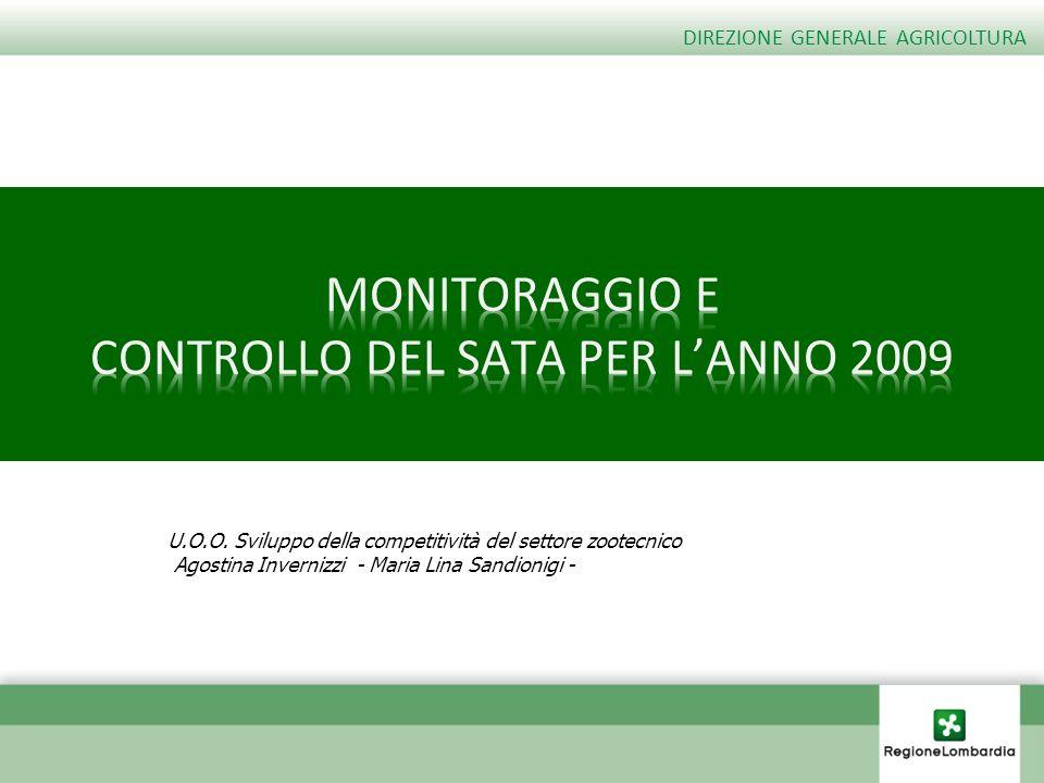 MONITORAGGIO E CONTROLLO DEL SATA PER L'ANNO 2009