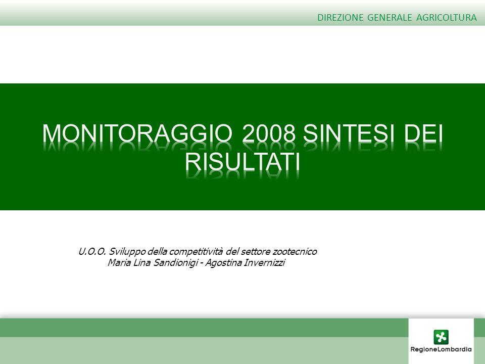 MONITORAGGIO 2008 SINTESI DEI RISULTATI