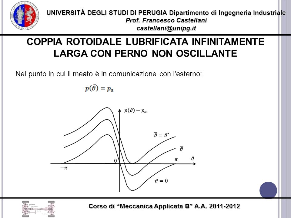 UNIVERSITÀ DEGLI STUDI DI PERUGIA Dipartimento di Ingegneria Industriale