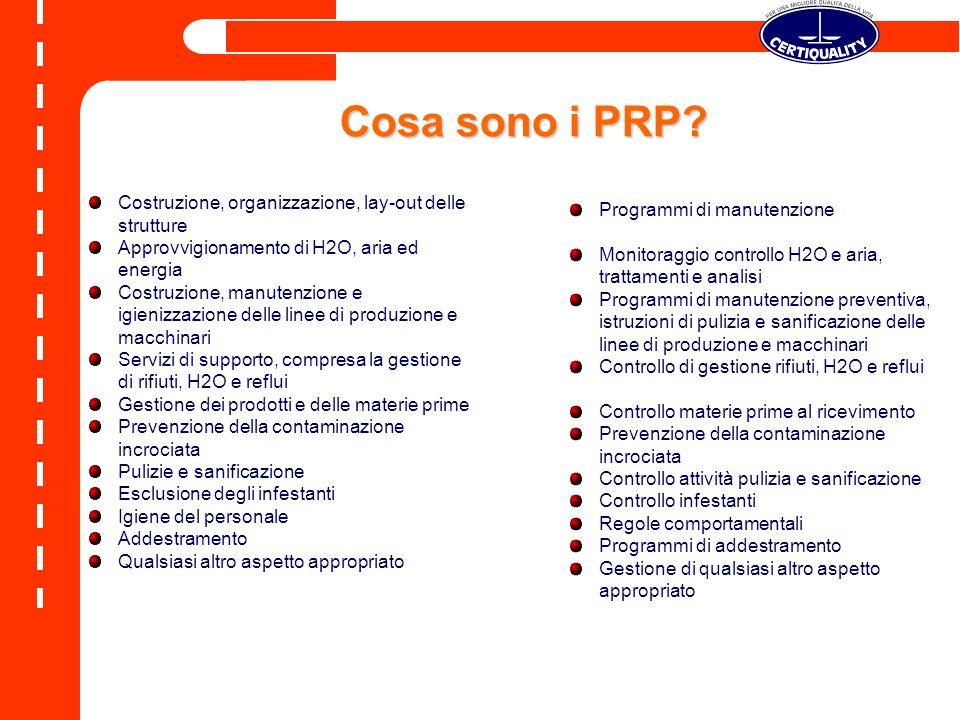 Cosa sono i PRP Costruzione, organizzazione, lay-out delle strutture