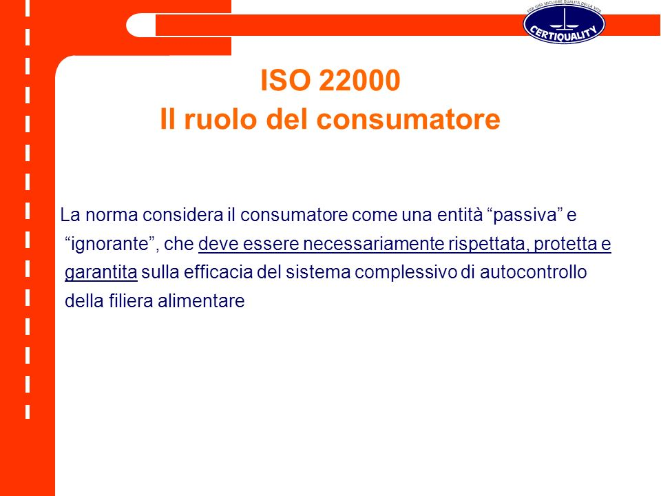ISO 22000 Il ruolo del consumatore