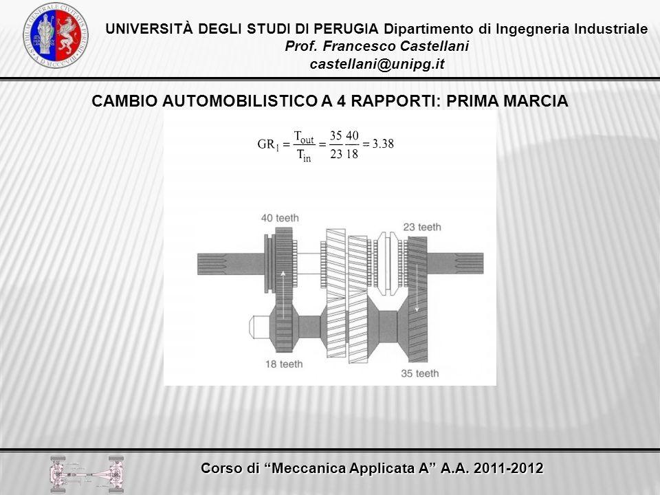 CAMBIO AUTOMOBILISTICO A 4 RAPPORTI: PRIMA MARCIA