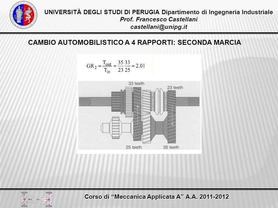 CAMBIO AUTOMOBILISTICO A 4 RAPPORTI: SECONDA MARCIA