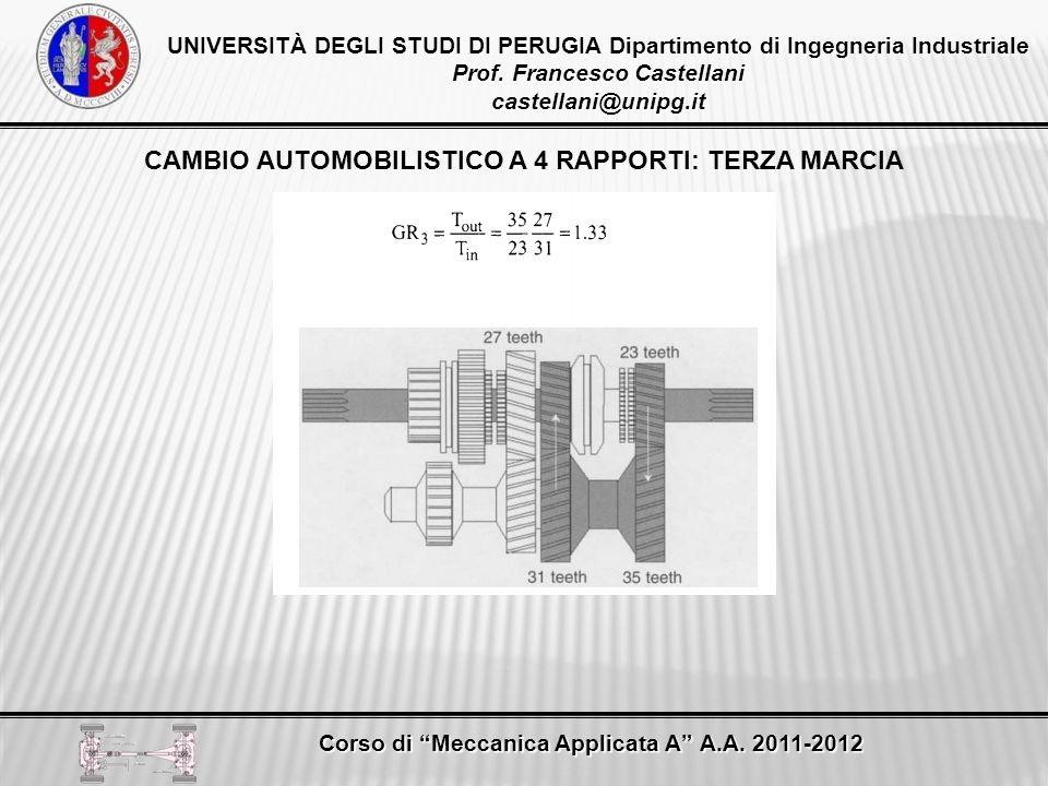 CAMBIO AUTOMOBILISTICO A 4 RAPPORTI: TERZA MARCIA