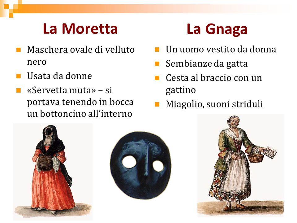 La Moretta La Gnaga Maschera ovale di velluto nero