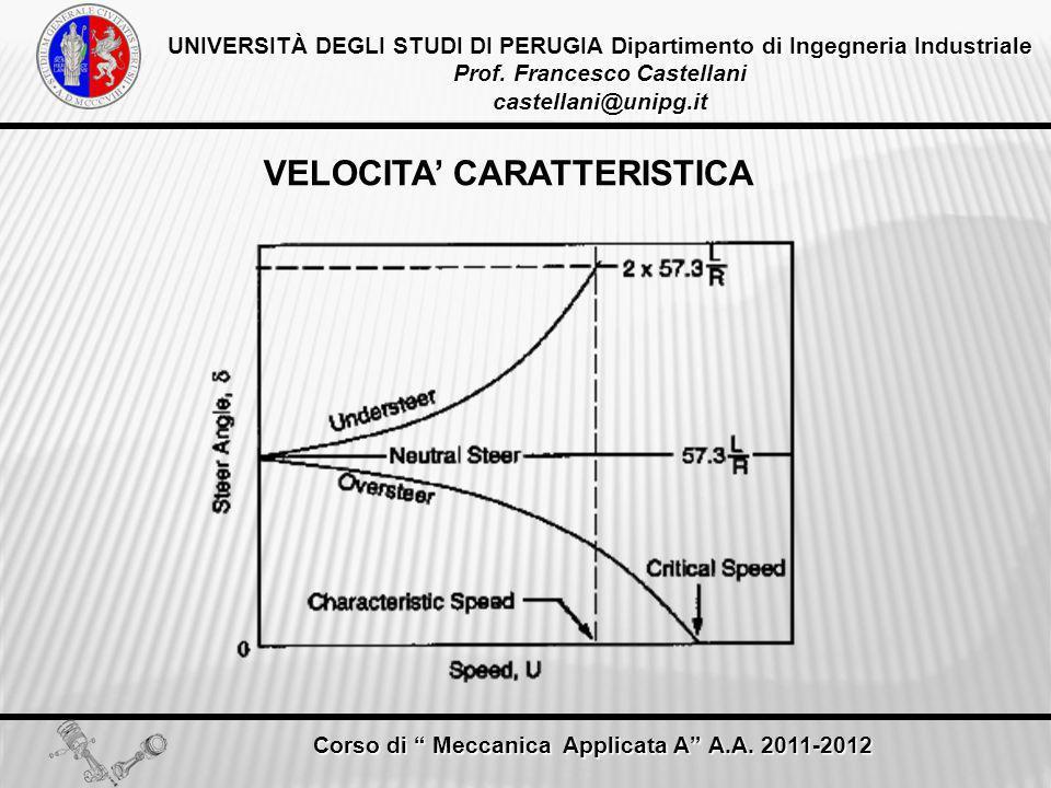VELOCITA' CARATTERISTICA