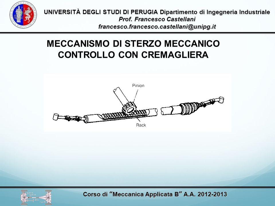 MECCANISMO DI STERZO MECCANICO CONTROLLO CON CREMAGLIERA