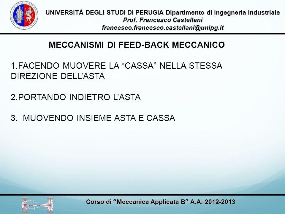 MECCANISMI DI FEED-BACK MECCANICO