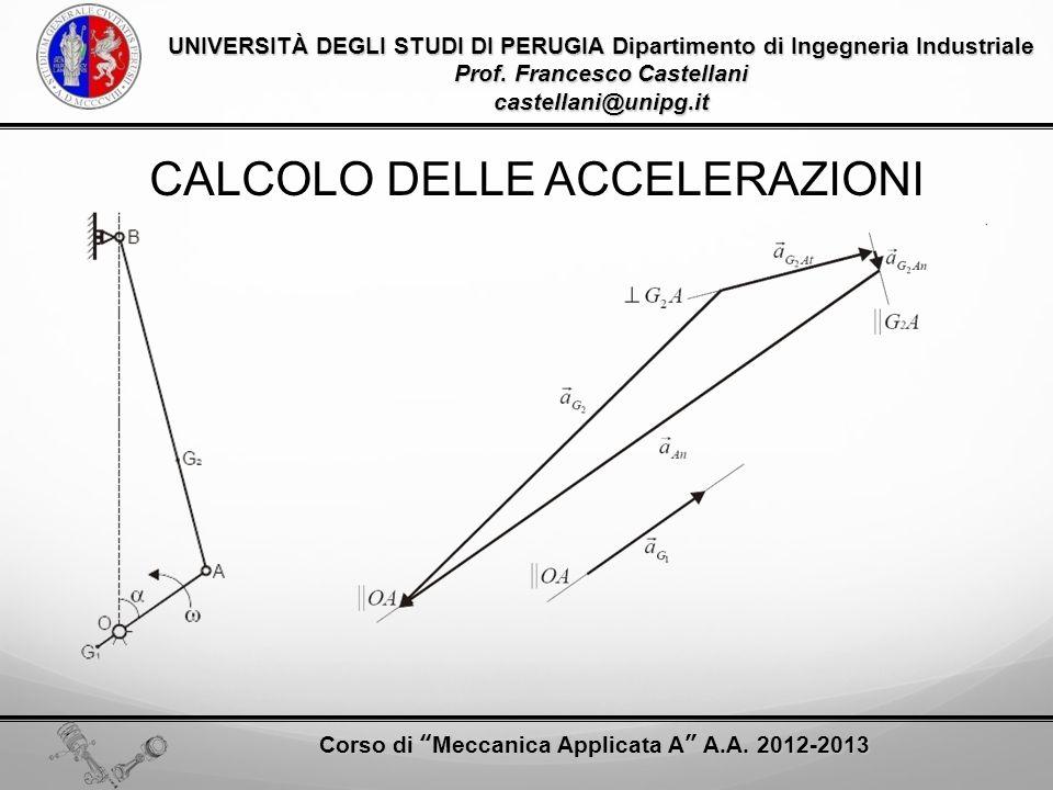 CALCOLO DELLE ACCELERAZIONI