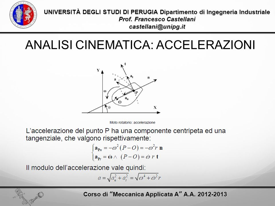 ANALISI CINEMATICA: ACCELERAZIONI
