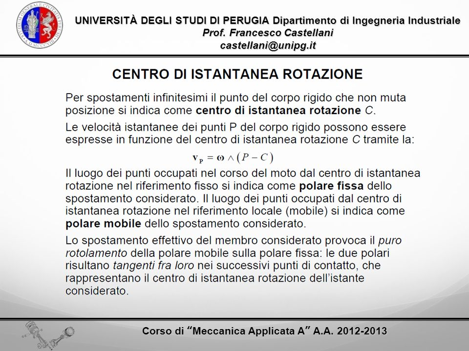Prof. Francesco Castellani castellani@unipg.it