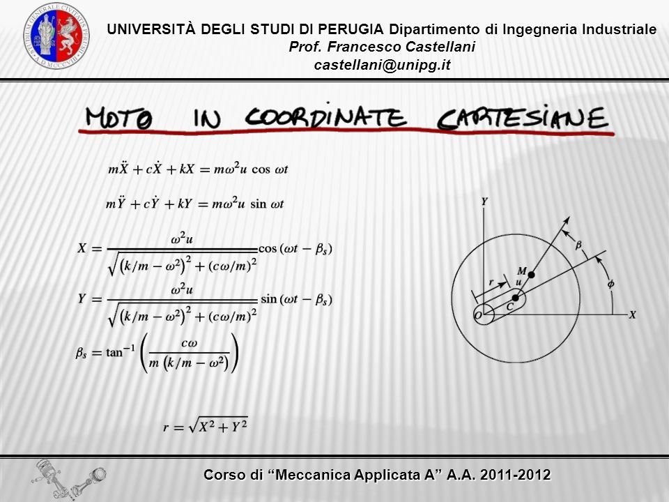 Prof. Francesco Castellani castellani@unipg.it