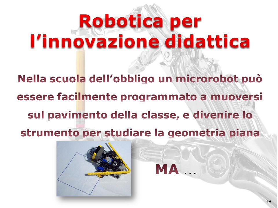 Robotica per l'innovazione didattica
