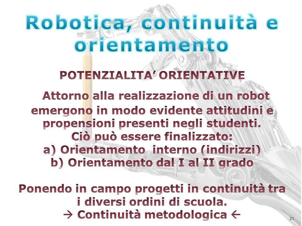 Robotica, continuità e orientamento