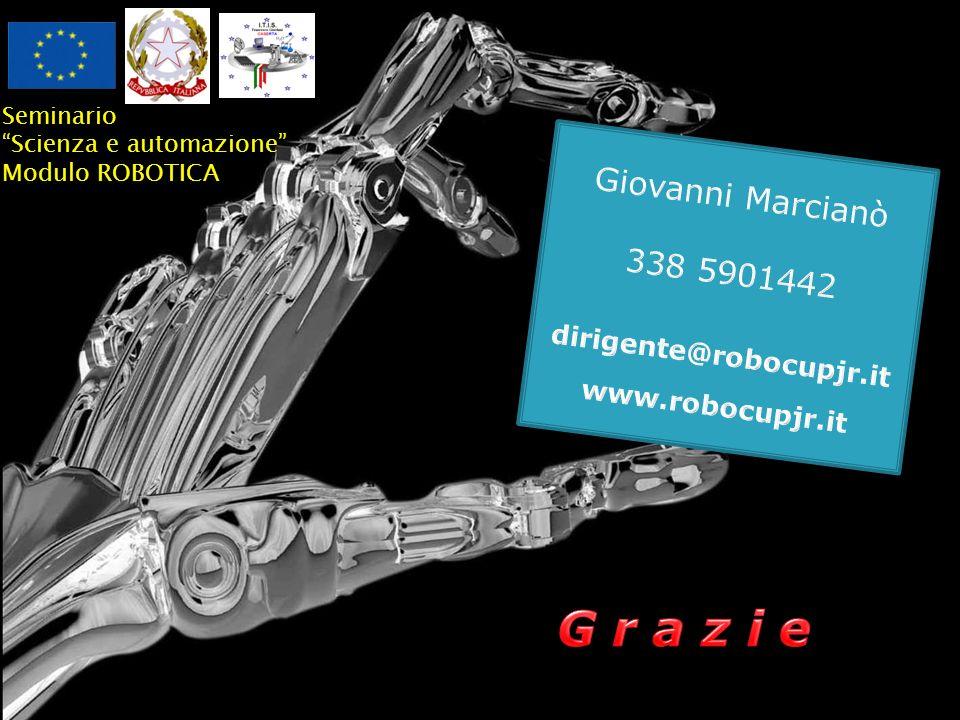 G r a z i e Giovanni Marcianò 338 5901442 dirigente@robocupjr.it