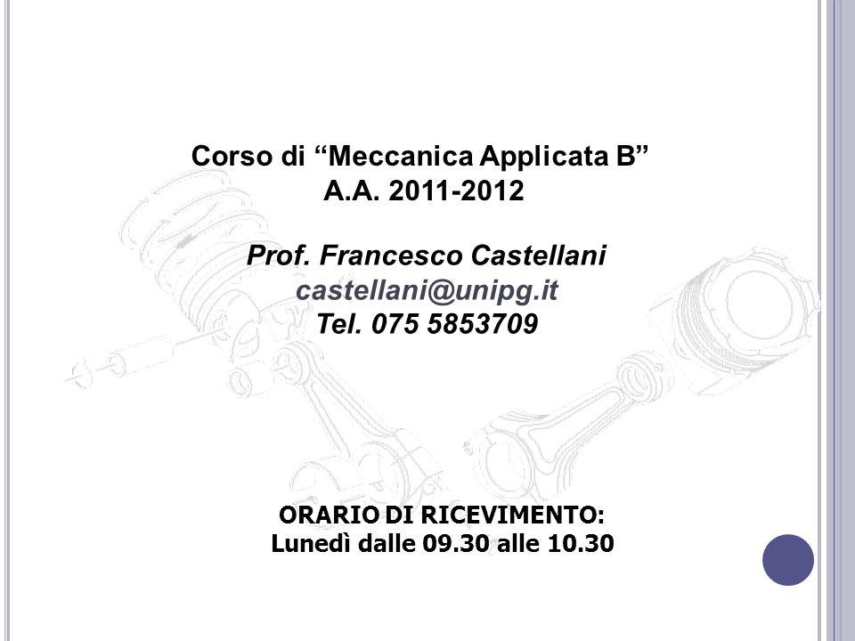 Corso di Meccanica Applicata B A.A. 2011-2012