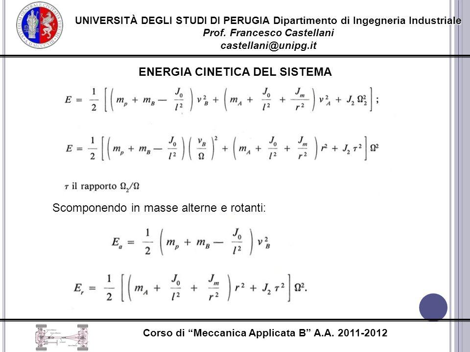 ENERGIA CINETICA DEL SISTEMA