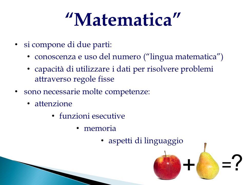 Matematica si compone di due parti: