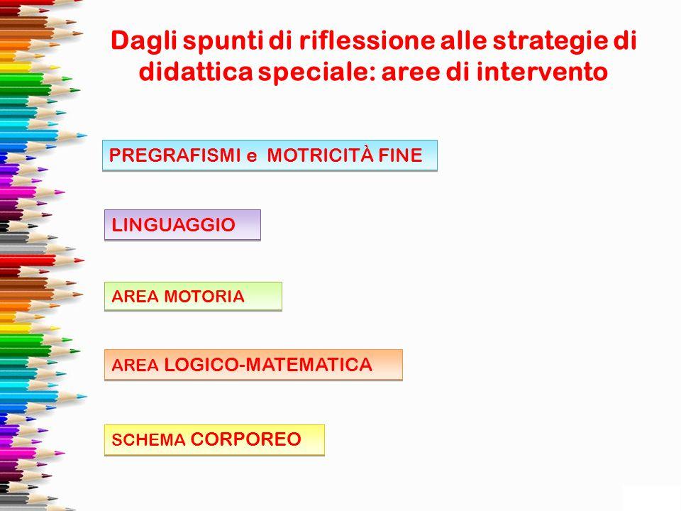 Dagli spunti di riflessione alle strategie di didattica speciale: aree di intervento