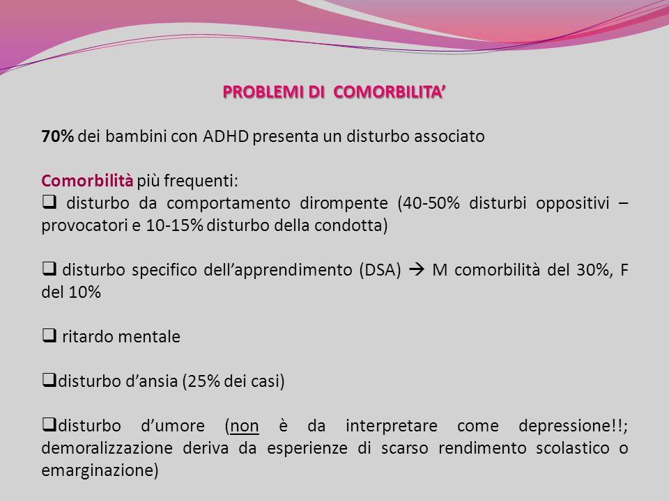 PROBLEMI DI COMORBILITA'