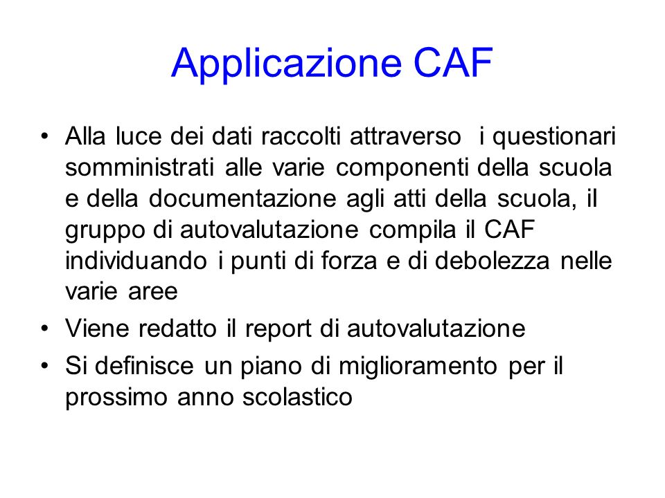 Applicazione CAF
