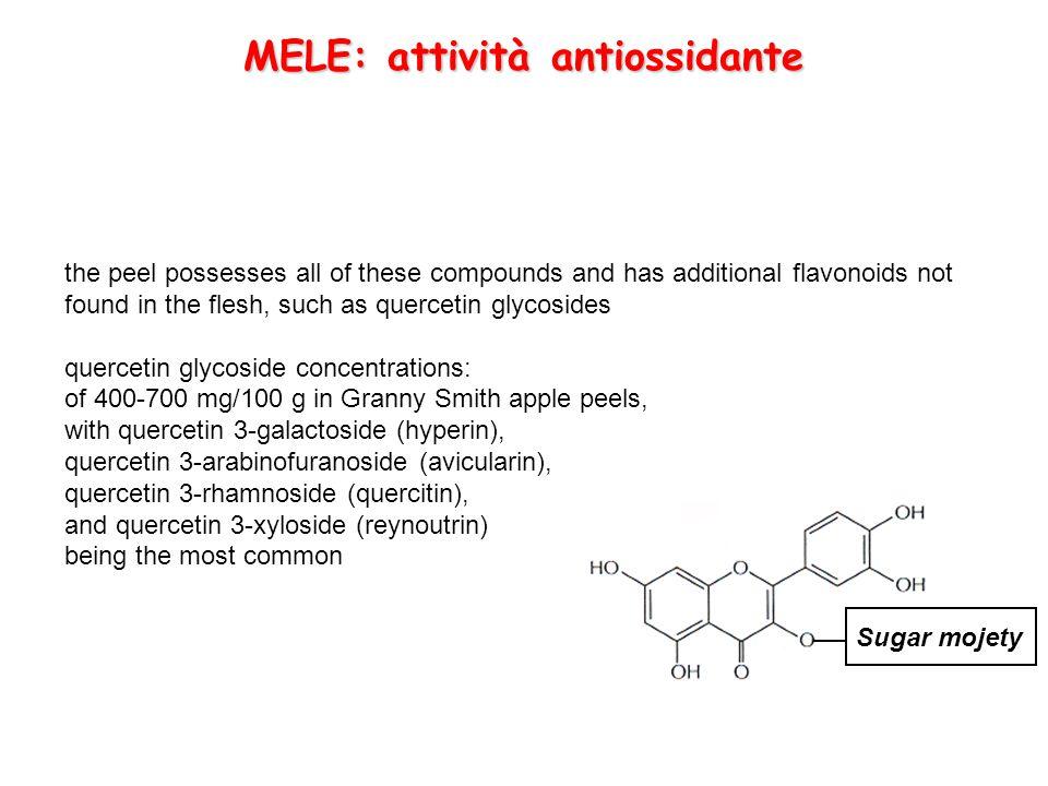 MELE: attività antiossidante
