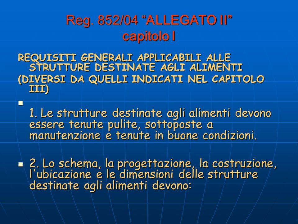 Reg. 852/04 ALLEGATO II capitolo I